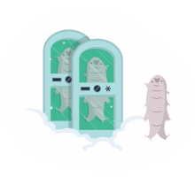 Bjørnedyr i fryserum (inspireret af naturen)